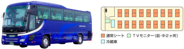 貸切バス|JRバス東北【公式HP】|高速バス 仙台-新宿 3列シート車 ...